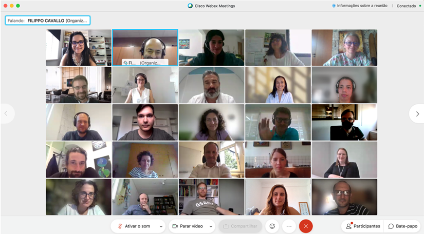 collection of pictures from the online meeting